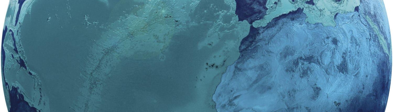 Globe vue côtes africaines et atlantique