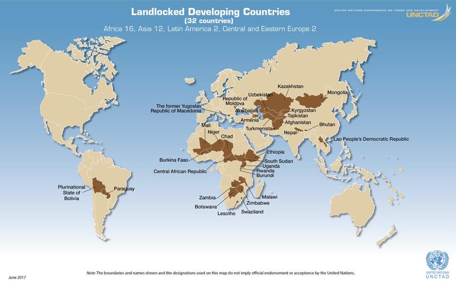 Landlock developing countries