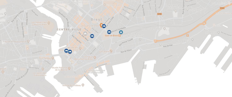 Lien vers Google Map adresses utiles