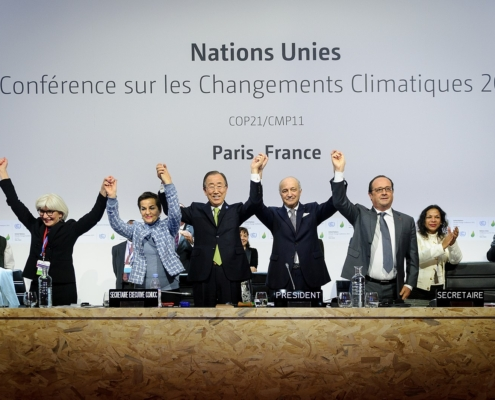 Plenary session of the COP21 for the adoption of the Paris Accord, United Nations Climate Change Conference (Paris, Le Bourget).